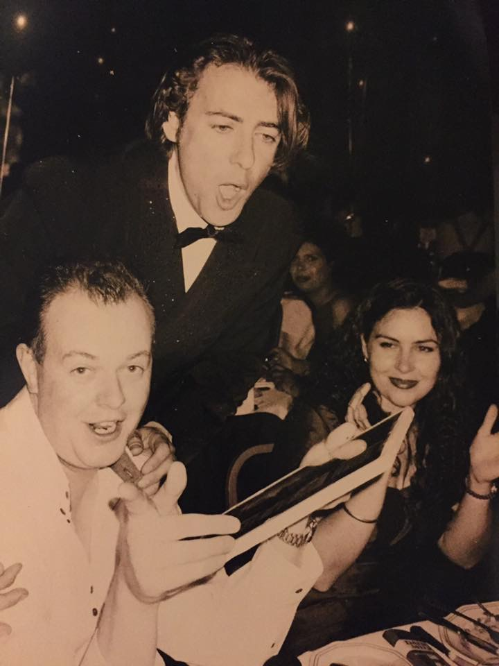 David Bradwell with Jonathan Ross and Louise Duffy